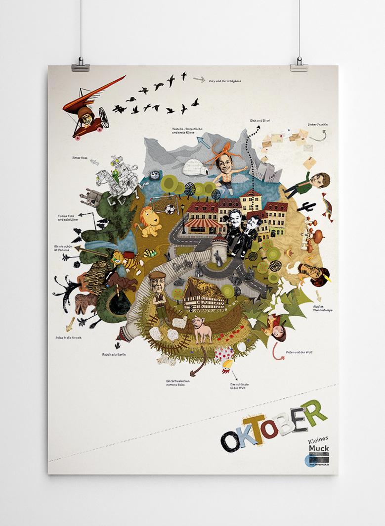 Programmplakat Oktober für das Kinderkino Kleines Muck