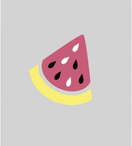 Illustration Stück Wassermelone
