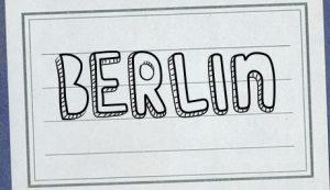 Schriftzug Berlin handgeschrieben