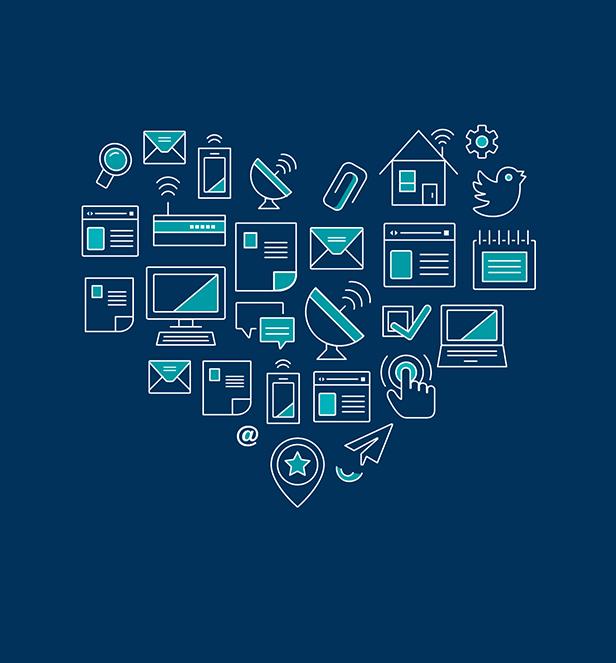 Icons formen ein Herz