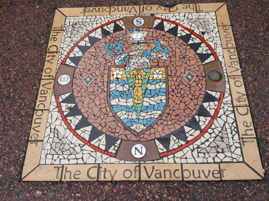 Mosaik des Wappens Vancouvers