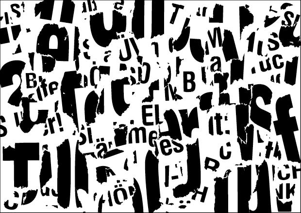 Typografische Illustration | Perfektes Chaos