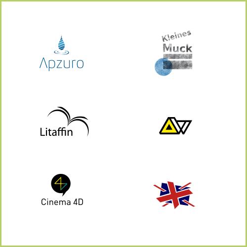 Eine Auswahl der von mir entworfenen Logos