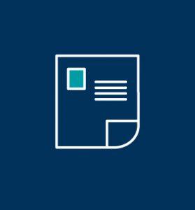 Blatt Papier Symbol für Artikel