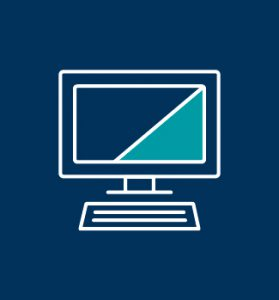 Monitor mit Tastatur